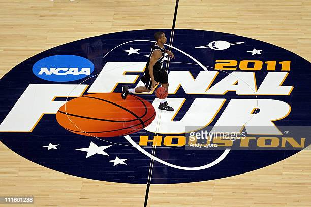 Ronald Nored of the Butler Bulldogs handles the ball against the Connecticut Huskies during the National Championship Game of the 2011 NCAA Division...