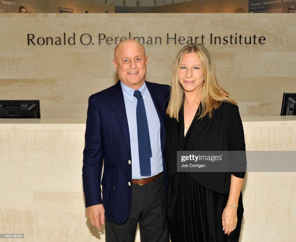 Barbra Streisand Visits The Ronald O. Perelman Heart Institute