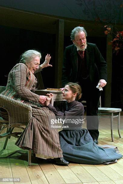 Ronald Pickup Loo Brealey and Antonia Pemberton in the production Uncle Vanya at the Rose Theatre in Kingston | Location KINGSTON United Kingdom