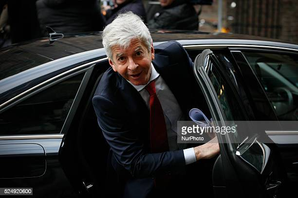 Ronald Plastek minister of internal affairs is seen arriving at the Ministry of General Affairs on December 5 2014 in The Hague Netherlands Every...