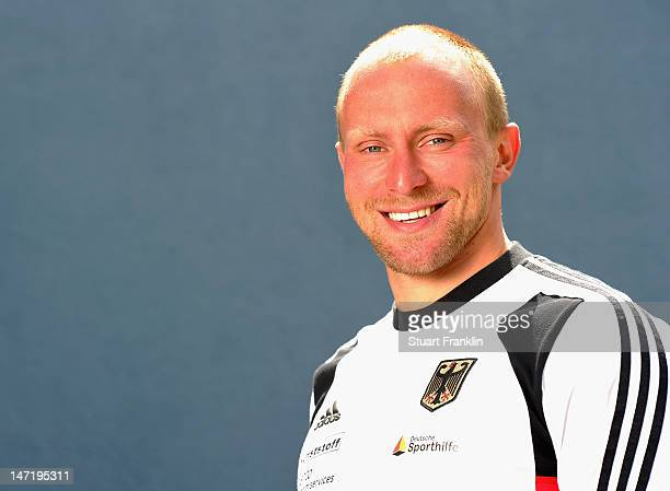 Ronald Rauhe of Germany poses for a photograph during a photo opportunity for the German Olympic canoe team on June 27 2012 in Berlin Germany