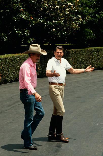 Ronald Reagan and Malcom Baldridge