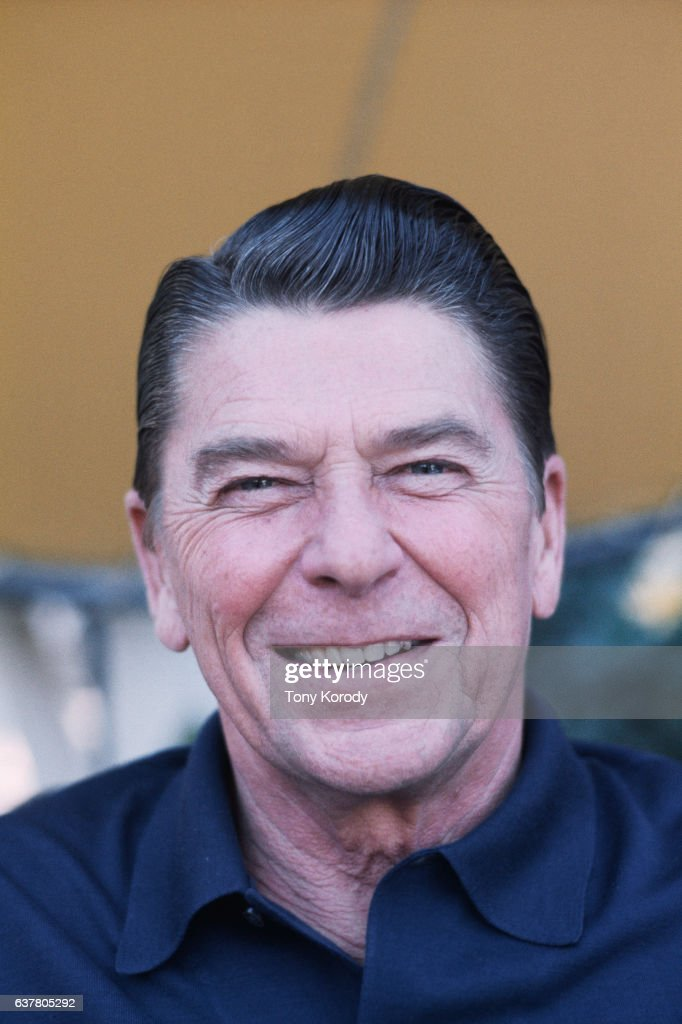 Ronald Reagan at his Pacific Palisades home following his defeat by Gerald Ford for the Republican presidential nomination.