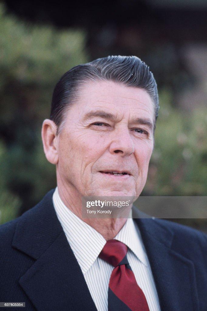 Ronald Reagan at His Pacific Palissades Home