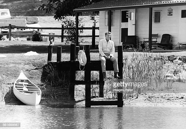 Ronald Reagan at his ranch circa 1980 in Santa Barbara California
