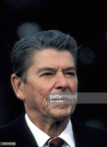 Ronald Reagan during White House Press Conference at White House in Washington D.C., United States.