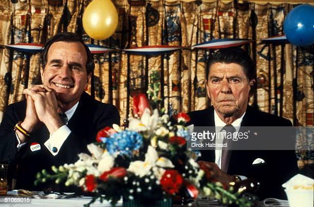 Ronald Reagan Helps Vice President George Bush Campaign For The Presidency