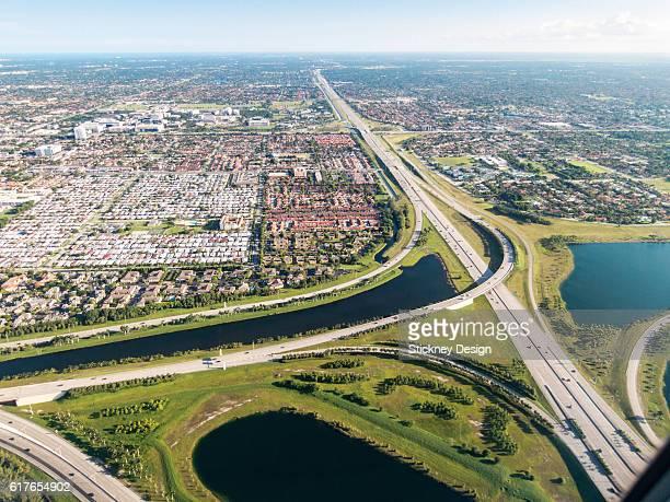 Ronald Reagan Turnpike Dolphin Expressway Interchange Aerial Miami