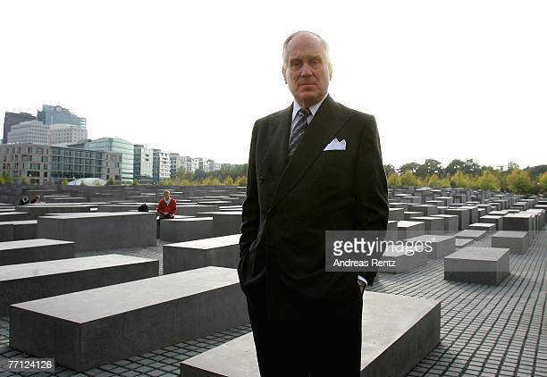 Ronald S Lauder President of the World Jewish Congress stands infront of the Holocaust memorial on October 1 2007 in Berlin Germany Lauder met German...