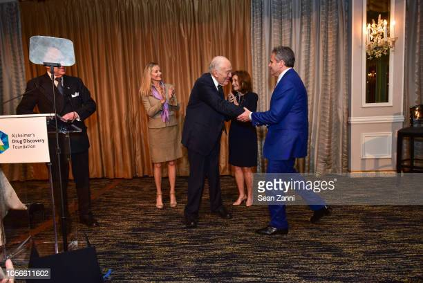 Ronald SLauder Bonnie Pfeifer Evans Leonard A Lauder Alice Shure and David R Weinreb attend the Alzheimer's Drug Discovery Foundation's Ninth Annual...