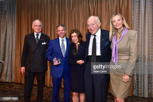 Ronald SLauder David R Weinreb Alice Shure Leonard A Lauder and Bonnie Pfeifer Evans attend the Alzheimer's Drug Discovery Foundation's Ninth Annual...