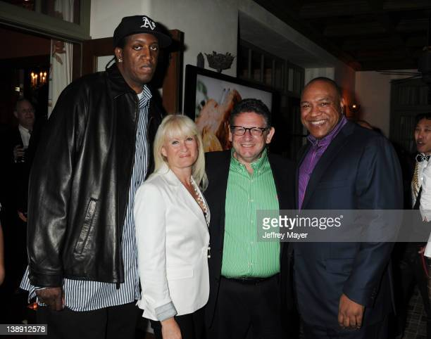 Ronald Slim Williams Caroline Grainge Lucian Grainge and Vernon Brown attend the Universal Music Group 54th Grammy Awards Viewing Reception hosted by...