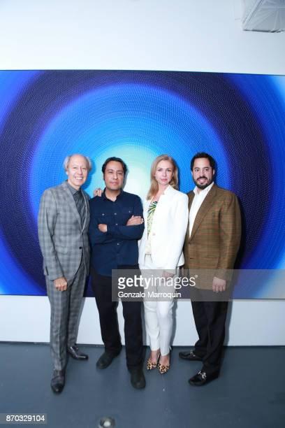 Ronald Sosinski, Ricardo Chavarria, Alina Okshteyn and Ricardo Fernandez during the Ricardo Chavarria by Art Gallery NYC and Overseas Premier...