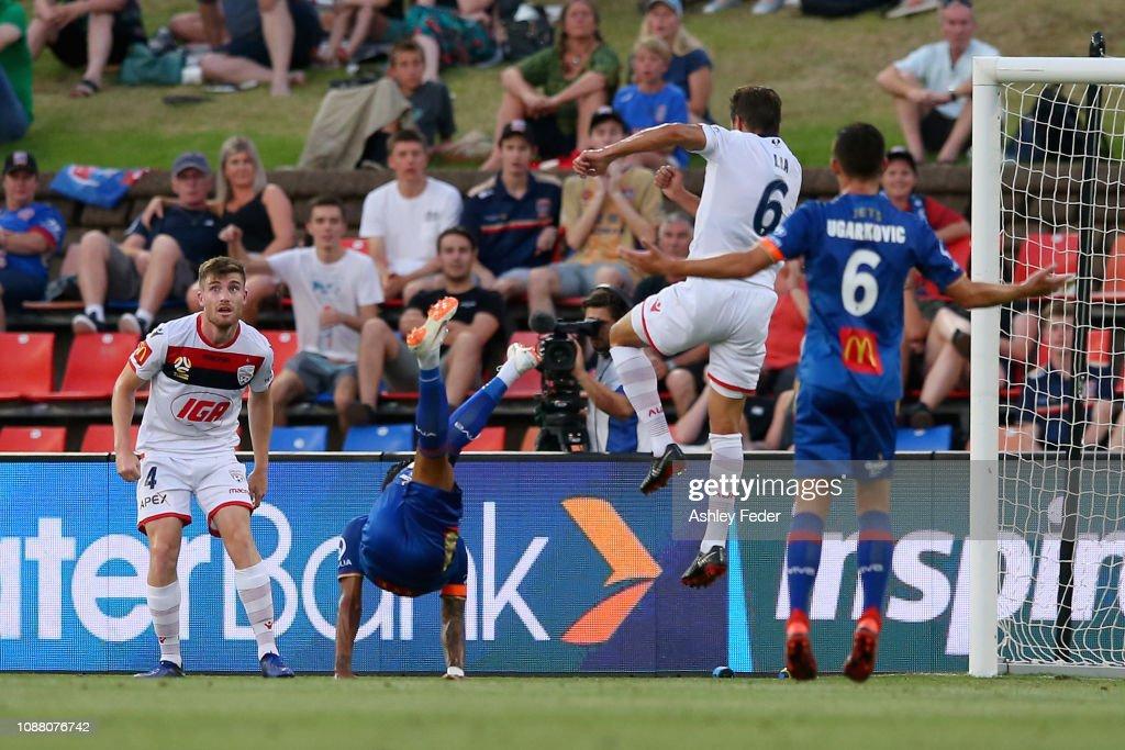 A-League Rd 10 - Newcastle v Adelaide : News Photo