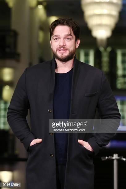 Ronald Zehrfeld attends the 'The Silent Revolution' premiere during the 68th Berlinale International Film Festival Berlin at Friedrichstadtpalast on...