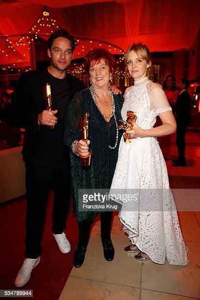 Ronald Zehrfeld Regina Ziegler and Laura Tonka during the Lola German Film Award 2016 on May 27 2016 in Berlin Germany