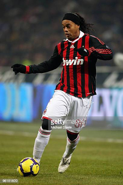 Ronaldhino of AC Milan during the Serie A match between Inter Milan and AC Milan at Stadio Giuseppe Meazza on January 24, 2010 in Milan, Italy.
