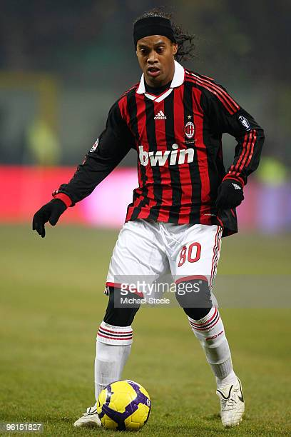 Ronaldhino of AC Milan during the Serie A match between Inter Milan and AC Milan at Stadio Giuseppe Meazza on January 24 2010 in Milan Italy
