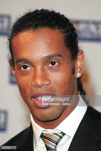 Ronaldinho attends the Fifapro World Player of the year awards at the BBC in London.
