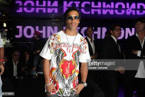 Ronaldinho attends the John Richmond Party as part of the Paris Womenswear Fashion Week Spring/Summer 2010 at the VIP Room Theatre on October 5 2009...