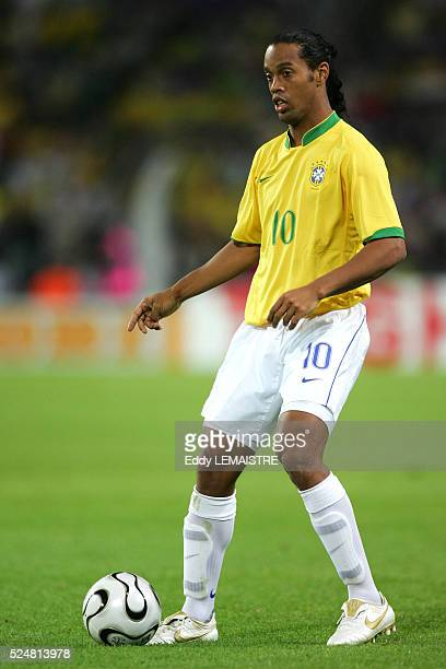 Ronaldinho during the 2006 FIFA World Cup match between Japan and Brazil in Dortmund Germany