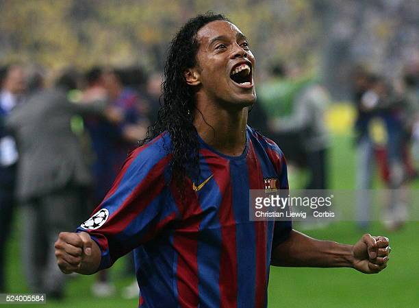Ronaldinho during the UEFA Champions League Final between Barcelona and Arsenal in the Stade de France in St Denis near Paris Barcelona won 21
