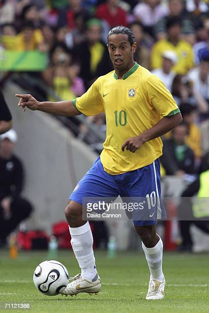 Ronaldinho of Brazil during the international friendly match between Brazil and New Zealand at the Stadium de Geneva on June 4, 2006 in Geneva ,...