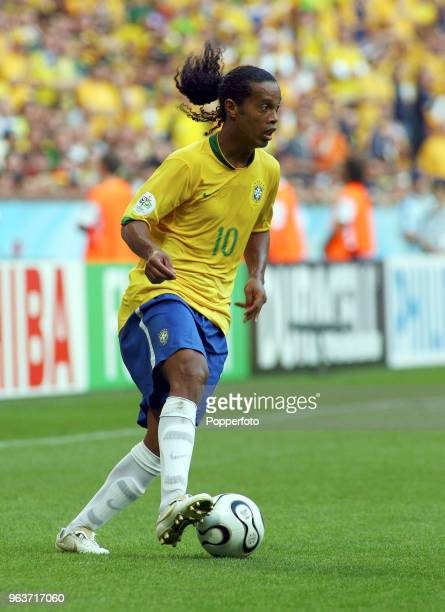 Ronaldinho of Brazil in action during the FIFA World Cup Group F match between Brazil and Australia at the FIFA WMStadion in Munich on June 18 2006...