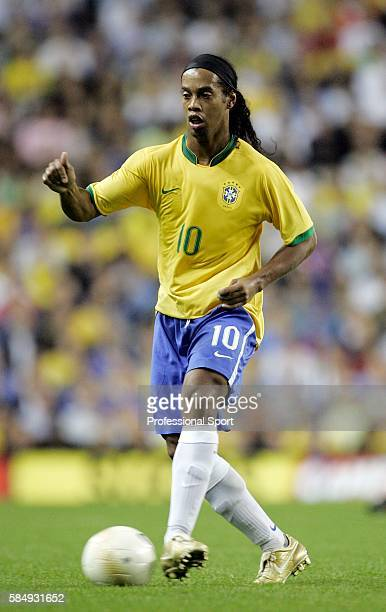 Ronaldinho of Brazil in action during the International friendly between Brazil and Wales on September 5 2006 at White Hart Lane in London