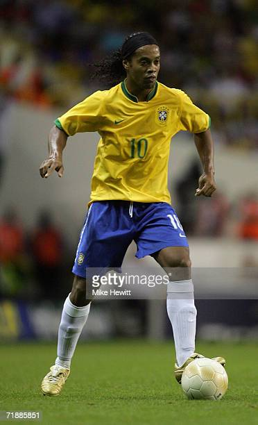 Ronaldinho of Brazil in action during the International friendly match between Brazil and Wales at White Hart Lane on September 5, 2006 in London.