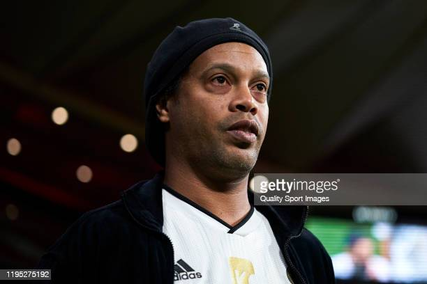 Ronaldinho of Goldstandard looks on during a friendly match at Wanda Metropolitano on December 21 2019 in Madrid Spain