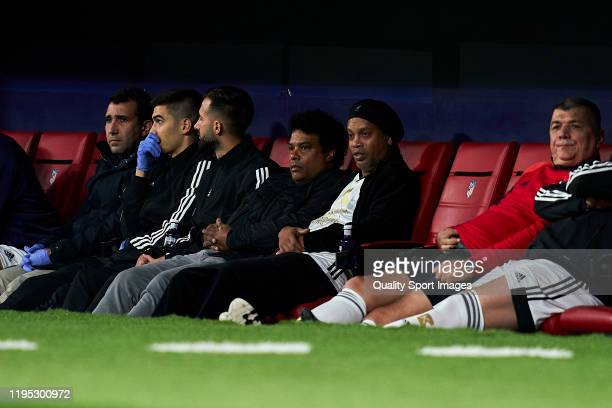 Ronaldinho of Goldstandard looks on during a frienly match at Wanda Metropolitano on December 21 2019 in Madrid Spain
