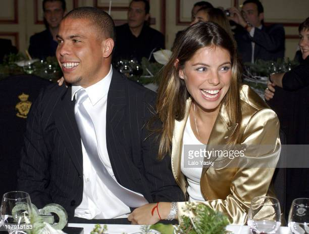 Ronaldo and Daniela Cicarelli during Soccer Player Ronaldo Awarded GQ Men of the Year Award for Best Sportsman December 13 2004 at Palace Hotel in...