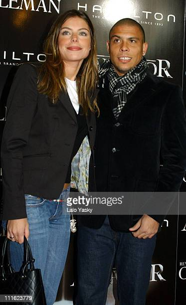 Ronaldo and Daniela Cicarelli during The Aviator Madrid Premiere at Palacio de la Musica Cinema in Madrid Spain