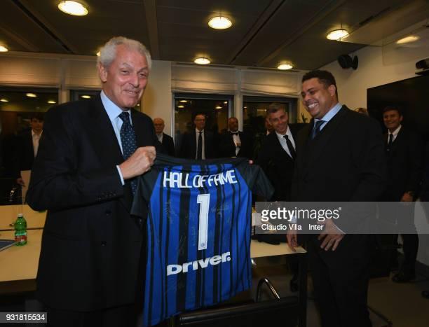 Ronaldo and Marco Tronchetti Provera attend FC Internazionale 110 Years Anniversary at Hangar Pirelli on March 9, 2018 in Milan, Italy.
