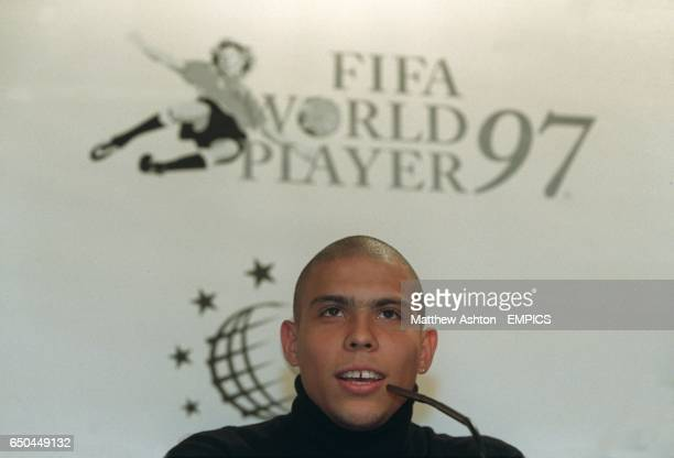Ronaldo at the FIFA World Player 97 Press Conference