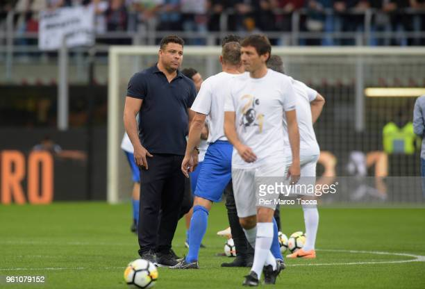 Ronaldo attends Andrea Pirlo Farewell Match at Stadio Giuseppe Meazza on May 21 2018 in Milan Italy