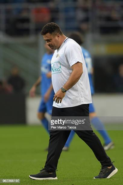 Ronaldo attends the Andrea Pirlo Farewell Match at Stadio Giuseppe Meazza on May 21 2018 in Milan Italy