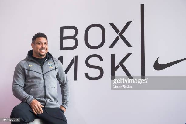 Ronaldo attends the opening of Box MSK at Gorky Park on June 12 2018 in Moscow Russia Brazil football icon Ronaldo and Russia legend Andrey Arshavin...
