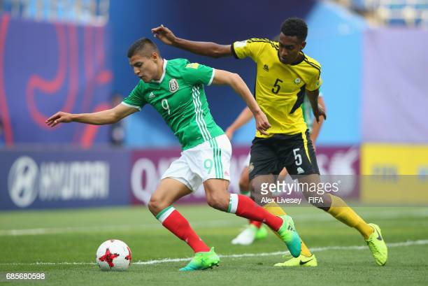 Ronaldo Cisneros of Mexico beats Joseph Iaruel of Vanuatu during the FIFA U20 World Cup Korea Republic 2017 group B match between of Vanuatu and...