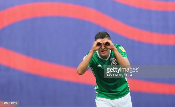 Ronaldo Cisneros of Mexico celebrates after scoring the second goal during the FIFA U20 World Cup Korea Republic 2017 group B match between of...