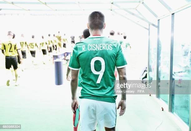 Ronaldo Cisneros of Mexico walks out of the tunnel with his team and on to the pitch for the the FIFA U20 World Cup Korea Republic 2017 group B match...