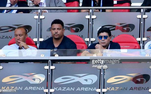 Ronaldo Diego Maradona during the 2018 FIFA World Cup Russia Round of 16 match between France and Argentina at Kazan Arena on June 30 2018 in Kazan...