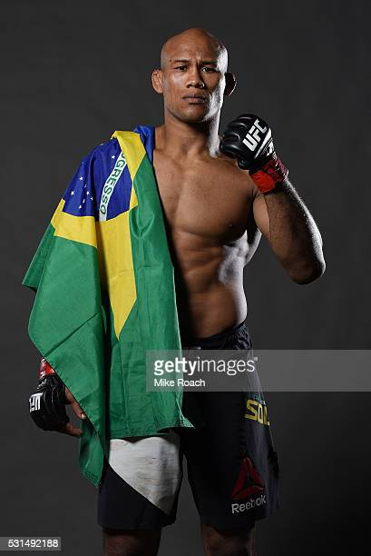 Ronaldo 'Jacare' Souza of Brazil poses for a portrait backstage during the UFC 198 event at Arena da Baixada stadium on May 14 2016 in Curitiba...