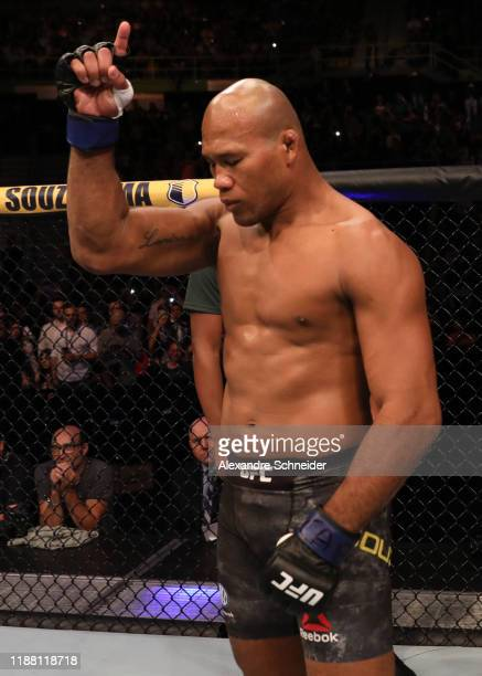 Ronaldo 'Jacare' Souza of Brazil prepares to fight Jan Blachowicz of Poland in their light heavyweight fight during the UFC Fight Night event at...
