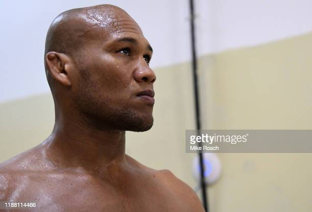 Ronaldo 'Jacare' Souza of Brazil warms up prior to his fight during the UFC Fight Night event at Ibirapuera Gymnasium on November 16 2019 in Sao...