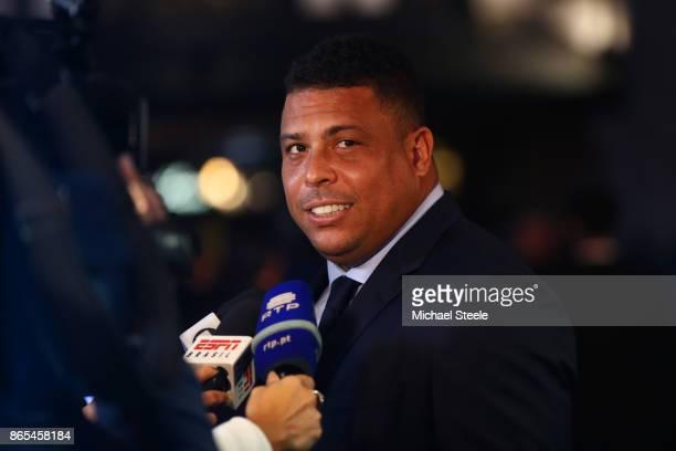 Ronaldo Luis Nazario de Lima arrives for The Best FIFA Football Awards Green Carpet Arrivals on October 23 2017 in London England