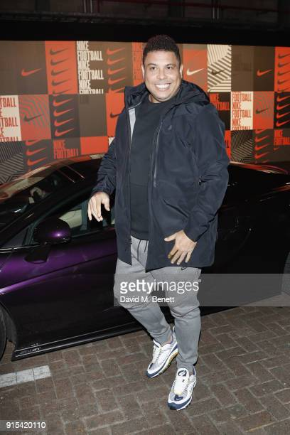 Ronaldo Luis Nazario de Lima attends in celebration of the 20th anniversary of Nike's most iconic football boot some of the world's best footballers...