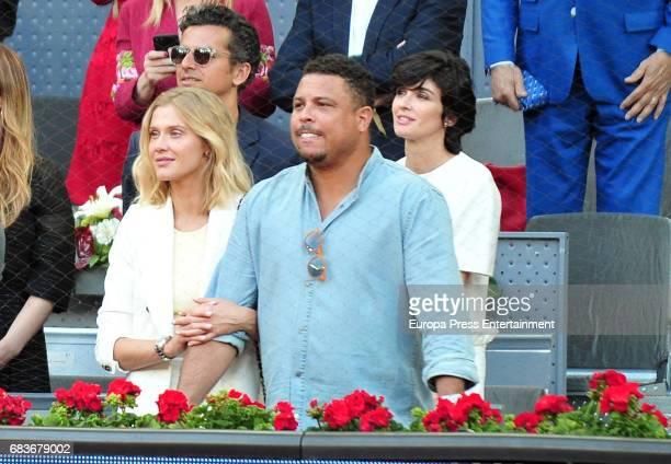 Ronaldo Nazario and Celina Locks attend Mutua Madrid Open tennis at La Caja Magica on May 14 2017 in Madrid Spain