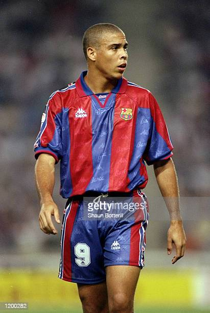 Ronaldo of Barcelona during the Primera Liga match against San Lorenzo at the Nou Camp in Barcelona Mandatory Credit Shaun Botterill /Allsport